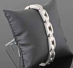 Stainless steel diamond  bracelet approx. 0.10ct