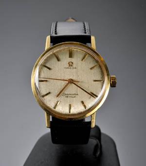 Omega Seamaster De Ville, herrearmbåndsur i 18 karat guld