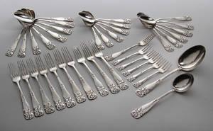 C. Jensen, Slagelse skønvirke bestik af hammerslået sølv 38